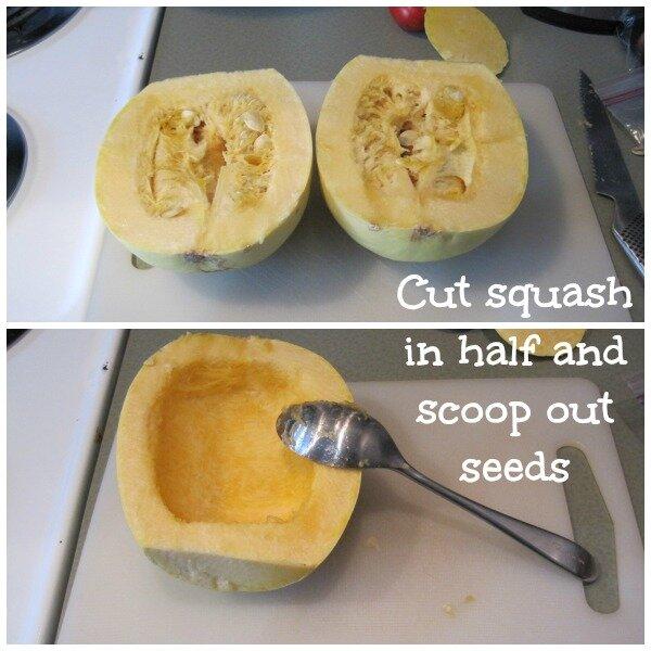 cut squash in half
