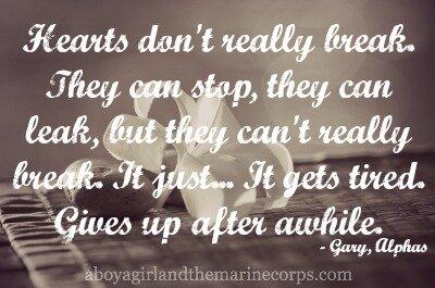 Hearts Don't Break // aboyagirlandthemarinecorps.com